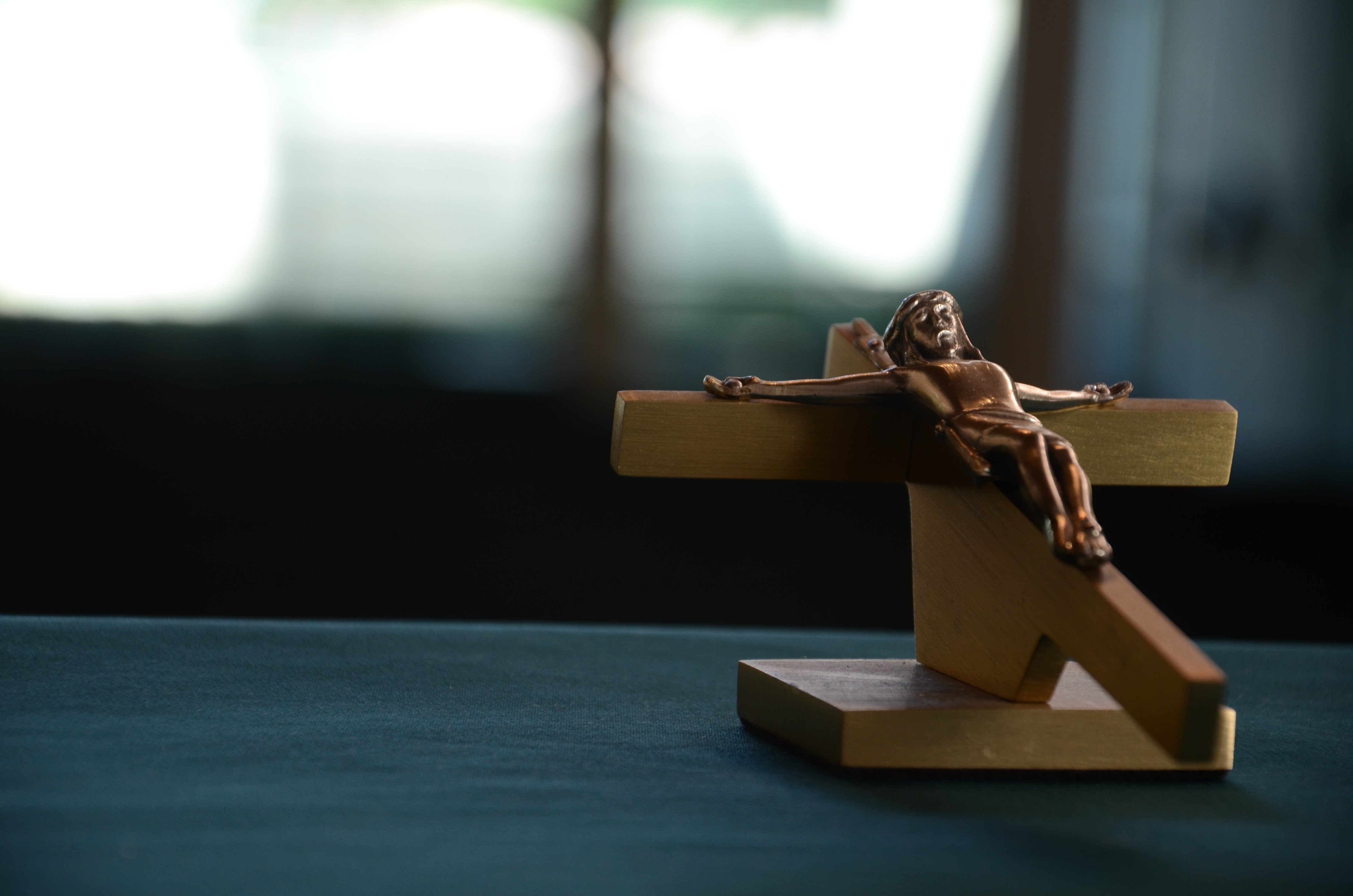Crucifix on a stand